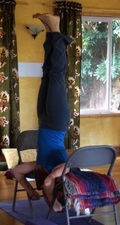Headstand with Chairs