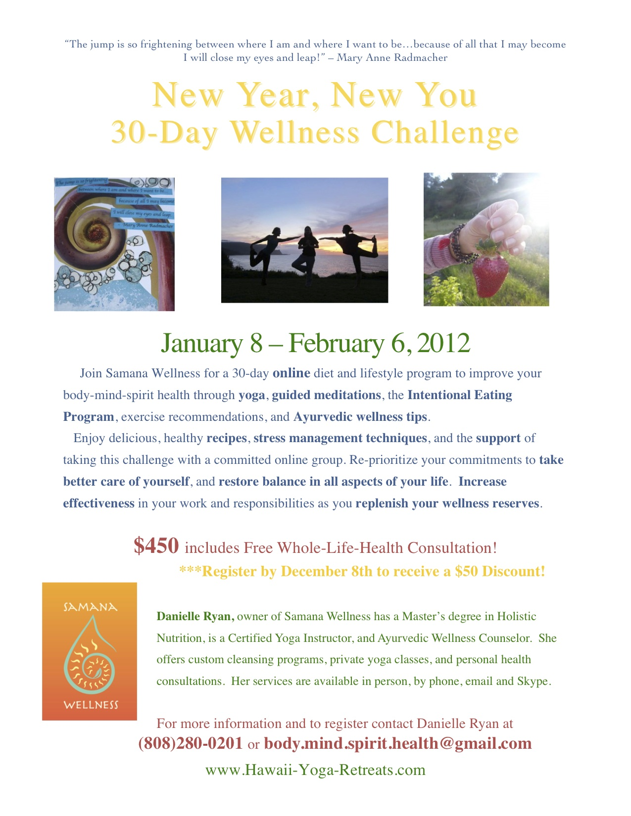 New Year New You Online Wellness Challenge