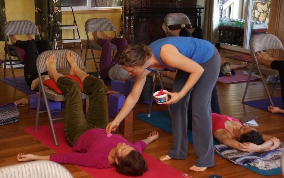 Rose Petal Restorative Yoga